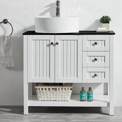 Modena 36 Single Bathroom Vanity Set Base Finish: White