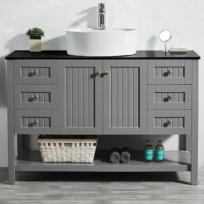 Modena 48 Single Bathroom Vanity Set Base Finish: Gray