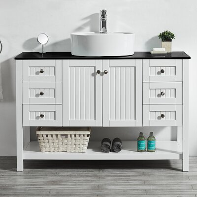Modena 48 Single Bathroom Vanity Set Base Finish: White
