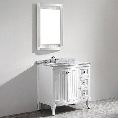 Verona 36 Single Vanity Set with Mirror Base Finish: White