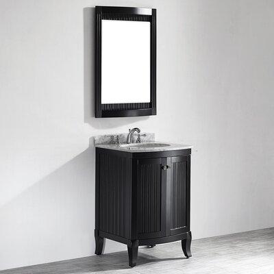 Verona 24 Single Vanity Set with Mirror Base Finish: Espresso