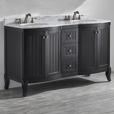 Verona 60 Double Vanity Set Base Finish: Espresso