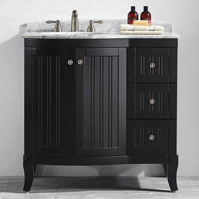 Verona 36 Single Vanity Set Base Finish: Espresso