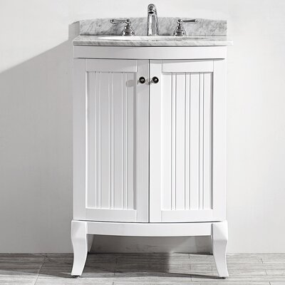 Verona 24 Single Vanity Set Base Finish: White