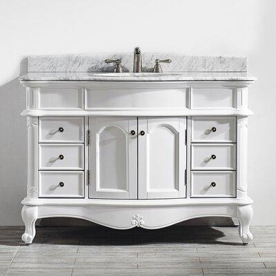 Leflore 48 Single Vanity Set Base Finish: White
