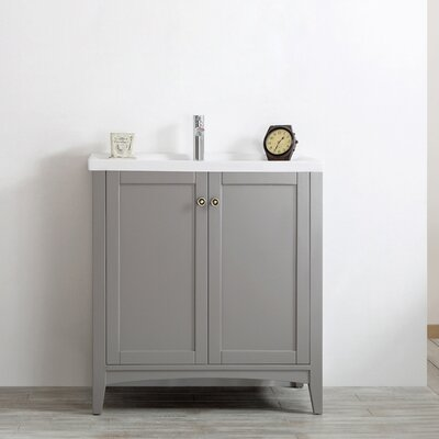 Asti 30 Single Vanity Set Base Finish: Grey