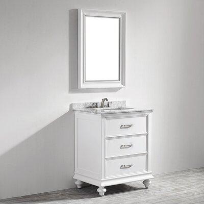 Venice 30 Single Vanity Set with Mirror Base Finish: White