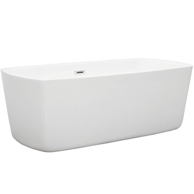 Carpi 63 x 31 Freestanding Soaking Bathtub