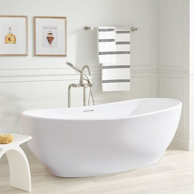 Melfi 67 x 32 Freestanding Soaking Bathtub