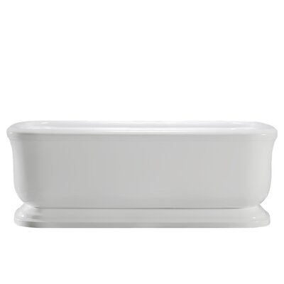 Modica 67 x 32 Freestanding Soaking Bathtub