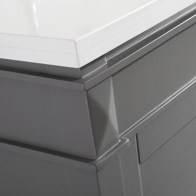Millfield 72 Bathroom Vanity Set with Mirror Base Finish: Gray