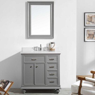 Weisner 36 Bathroom Vanity Set with Mirror Base Finish: Gray