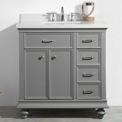 Weisner 36 Bathroom Vanity Set Base Finish: Gray