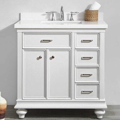Weisner 36 Bathroom Vanity Set Base Finish: White