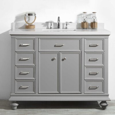 Weisner 48 Bathroom Vanity Set Base Finish: Gray