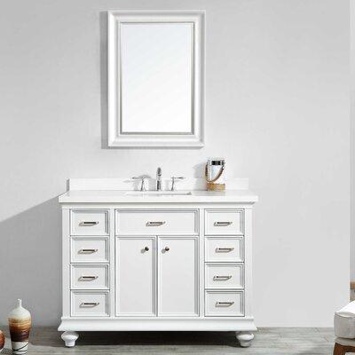 Weisner 48 Bathroom Vanity Set with Mirror Base Finish: White
