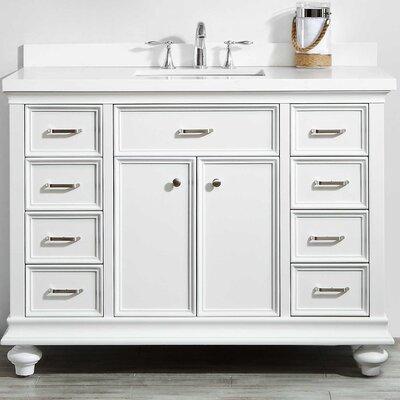 Weisner 48 Bathroom Vanity Set Base Finish: White