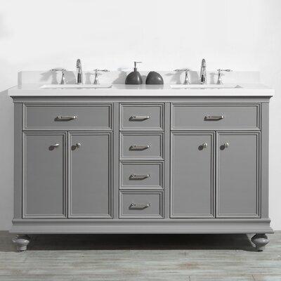 Weisner 60 Bathroom Vanity Set Base Finish: Gray