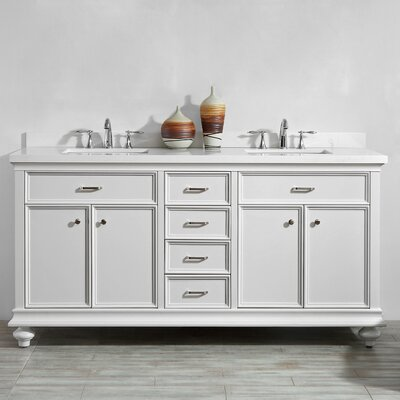 Weisner 72 Bathroom Vanity Set Base Finish: White