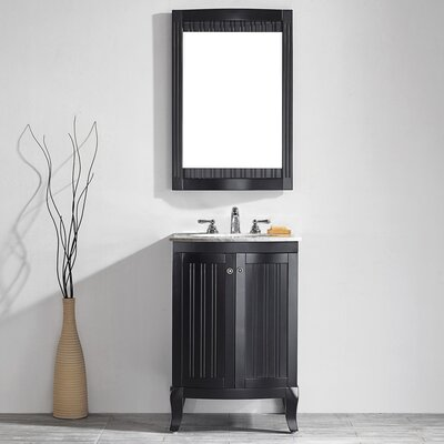 Verona 24 Single Vanity Set with Mirror Base Finish: Espresso