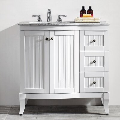Verona 36 Single Bathroom Vanity Set Base Finish: White