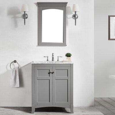 Arezzo 30 Single Vanity Set with Mirror Base Finish: Gray