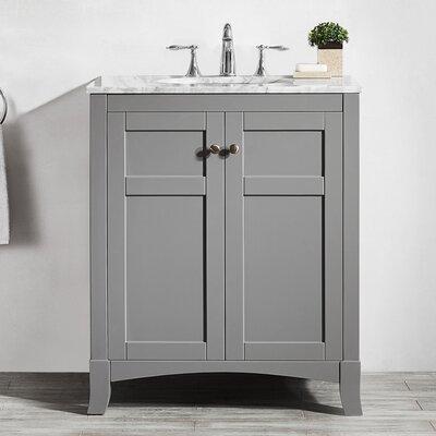 Arezzo 30 Single Bathroom Vanity Set Base Finish: Gray