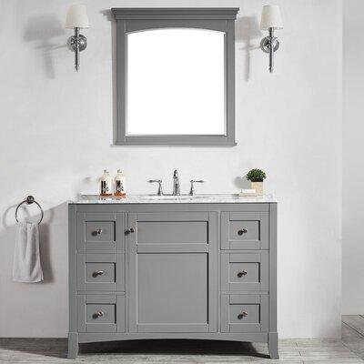 Arezzo 48 Single Vanity Set with Mirror Base Finish: Gray