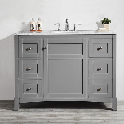 Arezzo 48 Single Vanity Set Base Finish: Gray