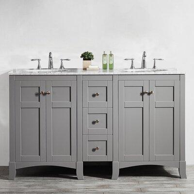 Arezzo 60 Double Vanity Set Base Finish: Gray