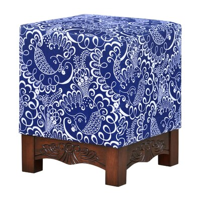 Robyn Printed Square Ottoman