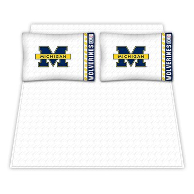 NCAA Michigan University Wolverines Sheet Set Size: Full