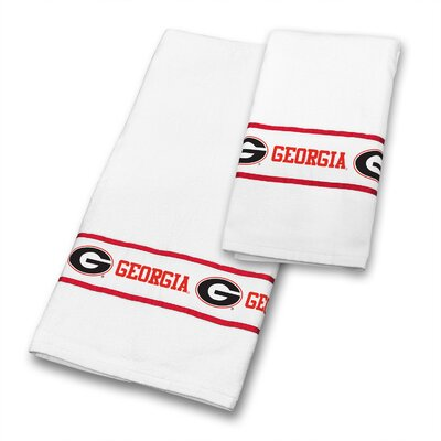 Georgia University 2 Piece Towel Set