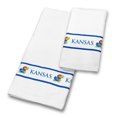 Kansas University 2 Piece Towel Set