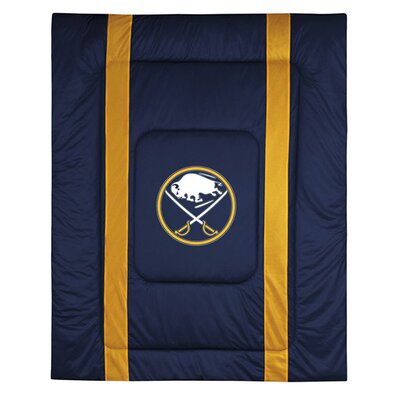 NHL Buffalo Sabres Sidelines Comforter Size: Full / Queen