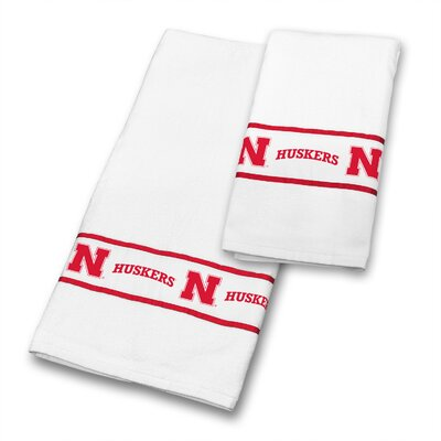 Nebraska University 2 Piece Towel Set