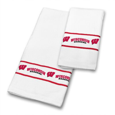 Wisconsin University 2 Piece Towel Set