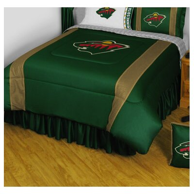 NHL Bed Skirt Size: Full, NHL Team: Minnesota Wild