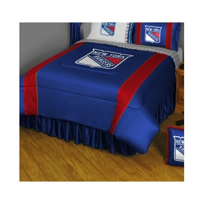 NHL Bed Skirt Size: Full, NHL Team: New York Rangers