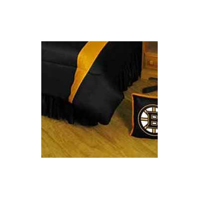 NHL Boston Bruins Polyester Jersey Bed Skirt Size: Full