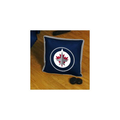 NHL Sidelines Throw Pillow NHL Team: Winnipeg Jets