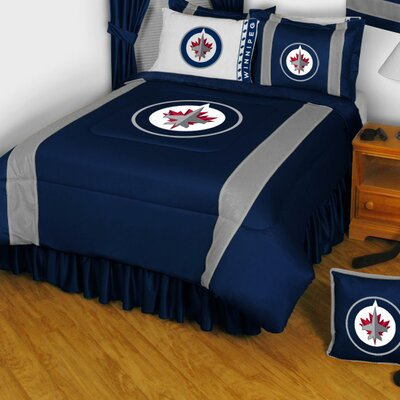 NHL Winnipeg Jets Sidelines Comforter Size: Full / Queen