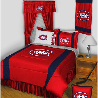 NHL Bed Skirt Size: Twin, NHL Team: Montreal Canadiens