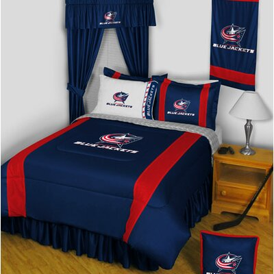 NHL Bed Skirt Size: Full, NHL Team: Columbus Blue Jackets