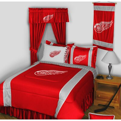 NHL Bed Skirt Size: Queen, NHL Team: Detroit Red Wings