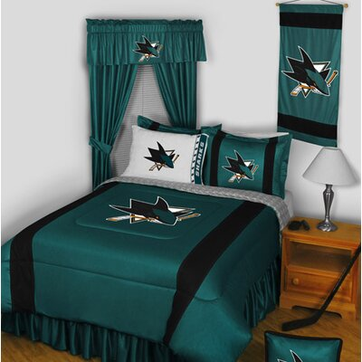 NHL Bed Skirt Size: Queen, NHL Team: San Jose Sharks