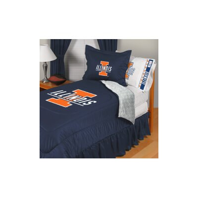 University of Illinois Comforter Size: Full/Queen