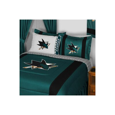 NHL San Jose Sharks Sidelines Comforter Size: Full / Queen