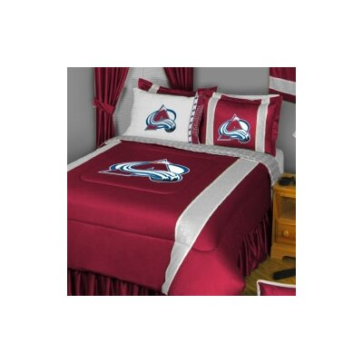 NHL Colorado Avalanche Sidelines Comforter Size: Full / Queen
