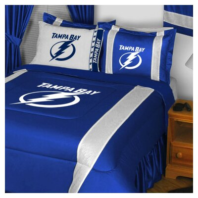 NHL Tampa Bay Lightning Sidelines Comforter Size: Full / Queen